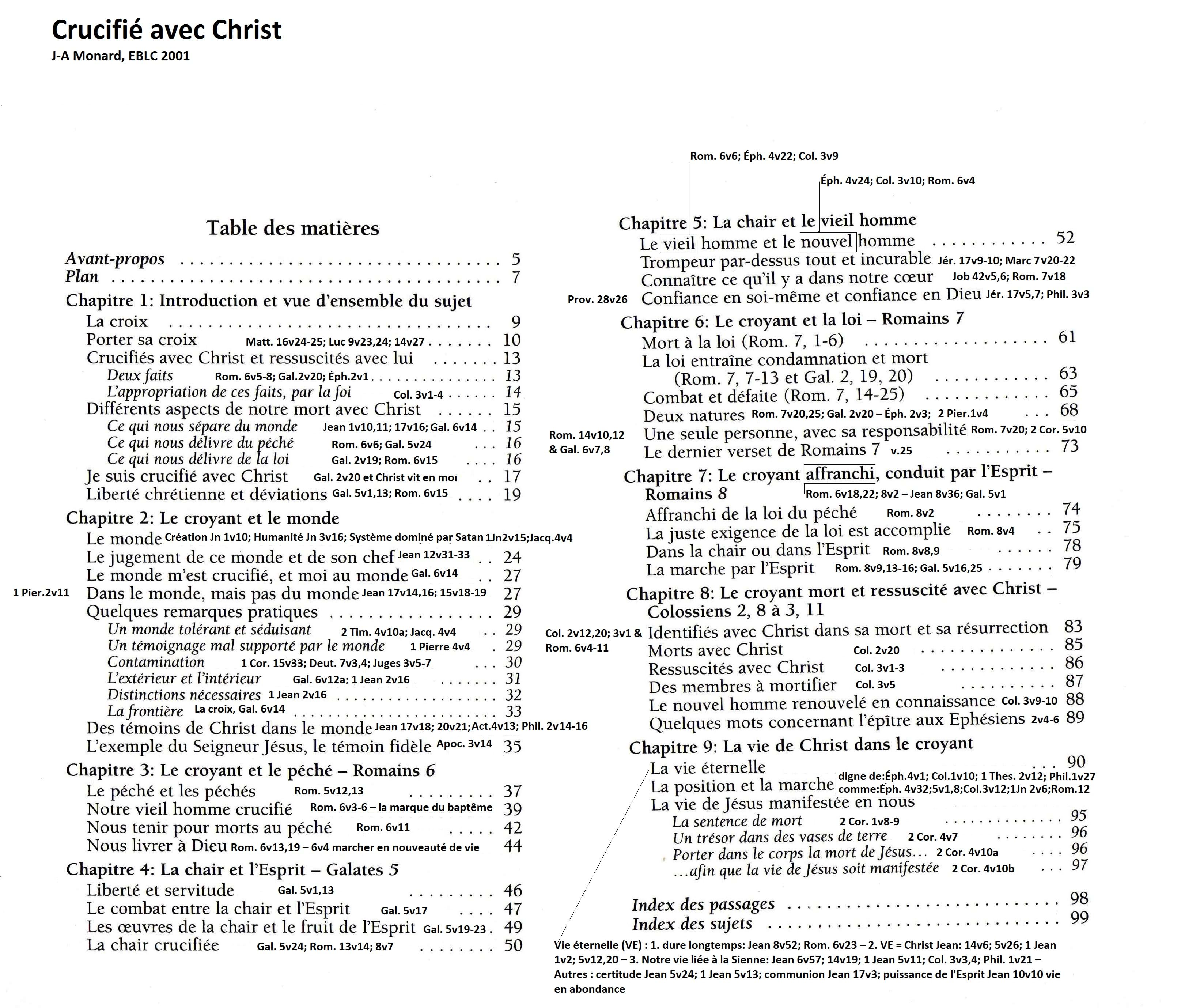 Sujets sanctification et saintet selon la bible - Difference entre sommaire et table des matieres ...